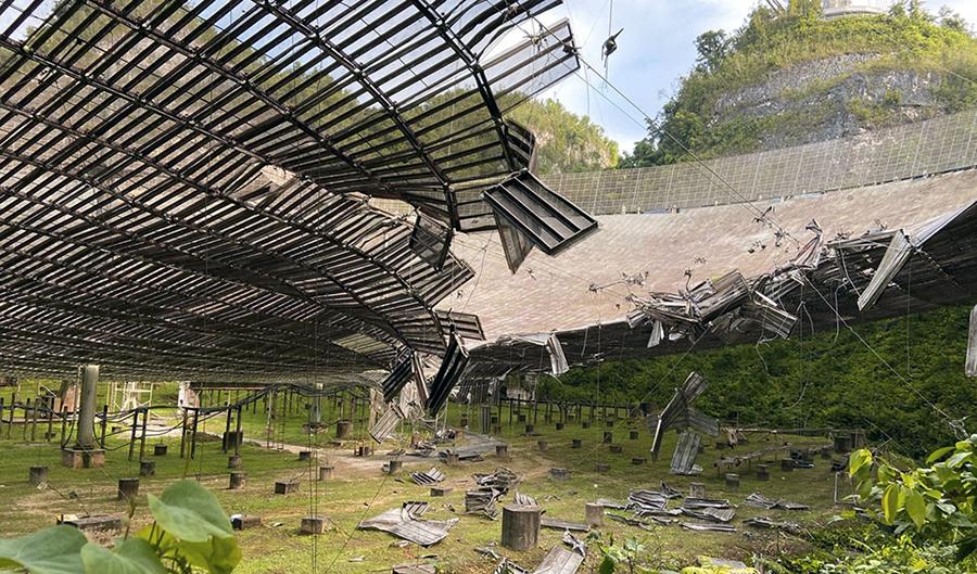 Observatorul Arecibo prăbușit