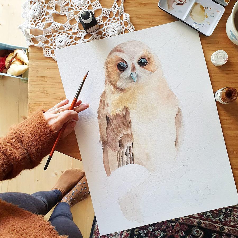 Alexia Udriște - pictură huhurez