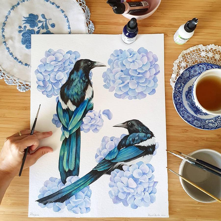 Alexia Udriște - pictură coțofene