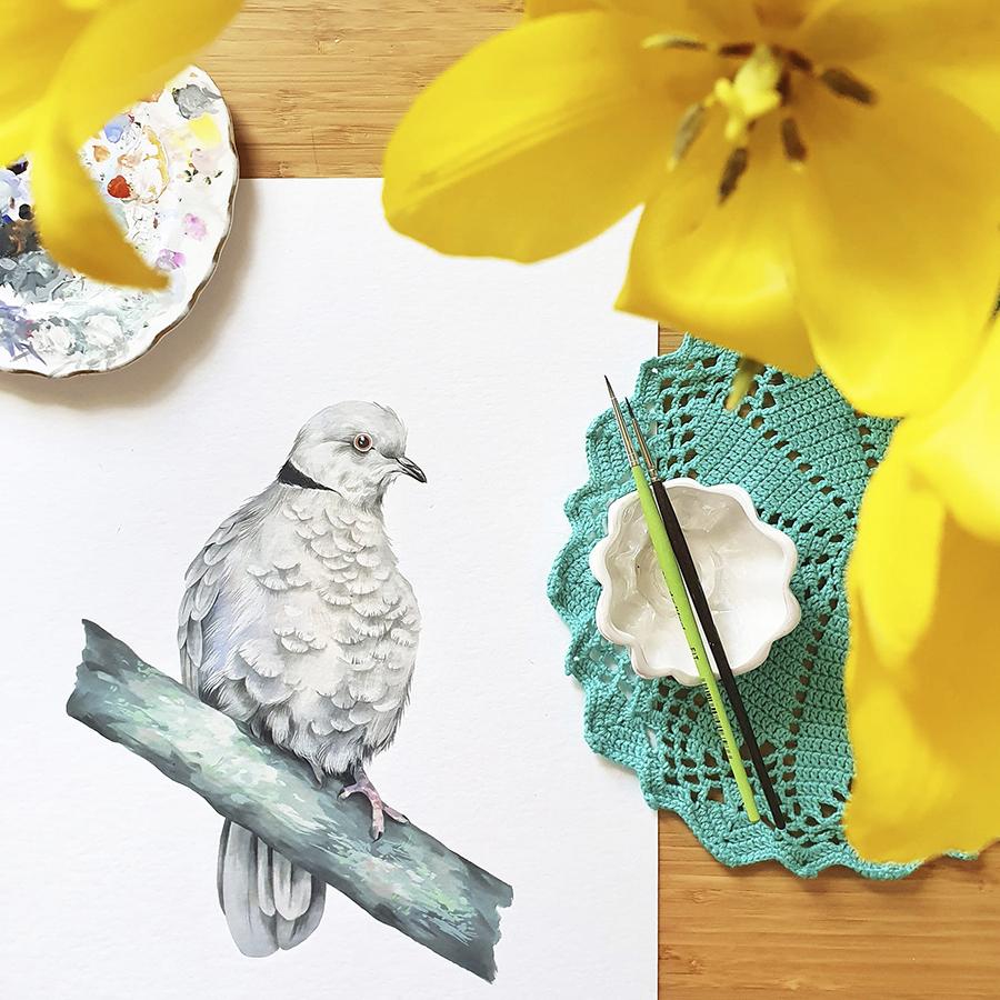 Alexia Udriște - pictură guguștiuc