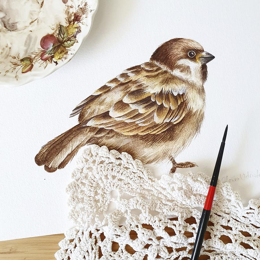 Alexia Udriște - tablou vrabie