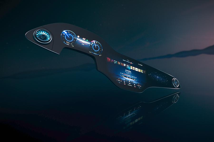 Bordul MBUX Hyperscreen de la Mercedes-Benz