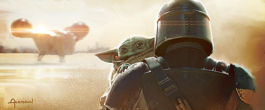 The Mandalorian și Baby Yoda