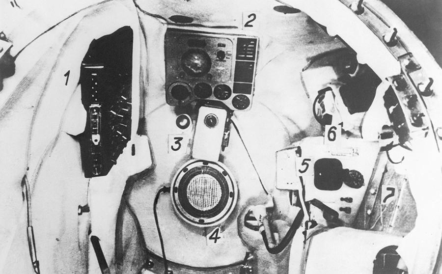 Interiorul navetei spațiale Vostok 3KA