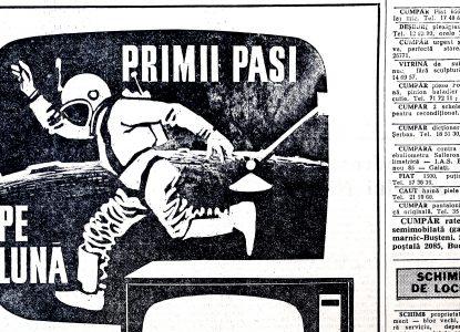 Reclame românești vechi despre oameni pe Lună