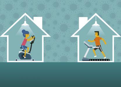 Home fitness în izolare și după