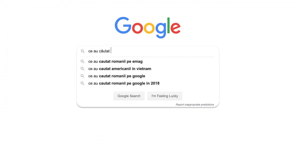 Cele mai populare căutări pe Google în România din 2019